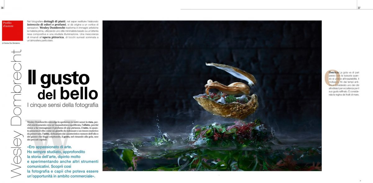 IL FOTOGRAFO, The Italian photography magazine 'IL FOTOGRAFO' #318 has just been released with a nice article about my artistic food series. Many thanks to Sonia De Girolamo from 'InArte Gallery' ,who wrote the article!